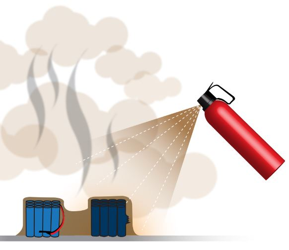 pożar baterii